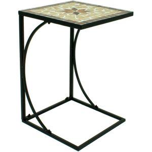 Garden Pleasure Beistelltisch AMARILLO 35x35cm Metall mit Mosaik-Tischplatte - eleganter Bestelltisch mit Mosaik