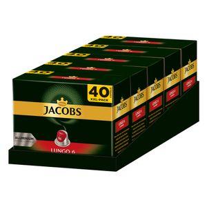 JACOBS Kapseln Lungo Classico 5 x 40 Nespresso®* kompatible Kaffeekapseln
