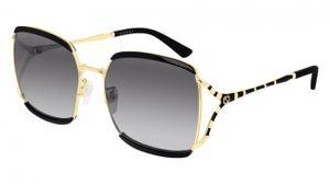 Gucci Sonnenbrillen GG0593SK 001 Schwarz/Silber/Gold Uni
