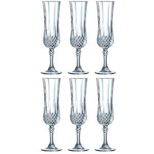 Cristal d'Arques 23223 Longchamp ECLAT Sektkelch 140 ml, Glas, klar (6er Pack)