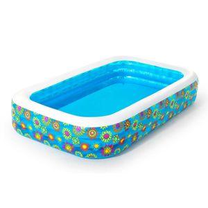 BESTWAY 54121 Planschbecken für Kinder 305x183x56cm Aufblasbarer Pool 9867