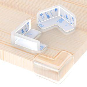 Eckenschutz , Stoßschutz für Baby Kinder, Transparent Eckenschutz für Möbel, Extra Dick und Weich, Geruchsneutral, Starke Haftung (12 Stück, L-förmiges)