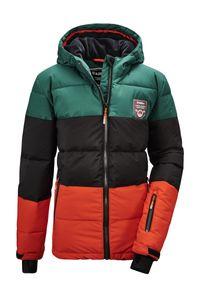 killtec Jungen Skijacke Fiames BYS Ski Quilted JCKT C, Farbe:dunkelgrün, Größe:164