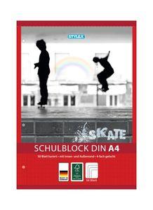 10x Schulblock / kariert / DIN A4 / gelocht / 50 Blatt je Block