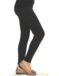 Kinder Mädchen Leggings lang blickdicht aus Baumwolle Hose   Schwarz  146