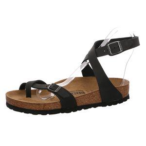 BIRKENSTOCK Yara Damen Sandale Schwarz Schuhe, Größe:38