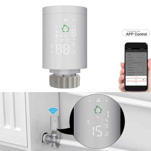 Intelligent Raumthermostat Thermostatkopf Heizkörperregler ZIGBEE 3.0 Heizkörperthermostat Programmierbarer Thermostatischer Mobile APP-Steuerung Fernbedienung Sprachsteuerung über Alexa