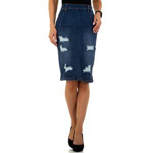 Ital-Design Damen Röcke Jeansröcke Blau Gr.xs/34