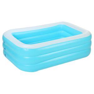 Swimmingpool Aufblasbare Pool Schwimmbecken Familien Pool Garten Outdoor, 150*109*50CM
