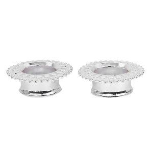 1 Paar Uni-Metall-Ohr stecker Flesh Tunnel Hohl blumen ohren strecker Größe 14mm Farbe Silber