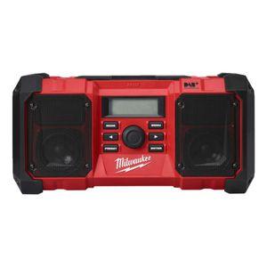 Milwaukee Akku-/Netz-Radio M18 JSR DAB+-0 18V - AM/FM-Tuner mit 10 Speicherplätzen, 402 x 197 x 197 mm