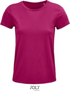 SOLS Damen T-Shirt Bio 03581 Rosa Fuchsia L