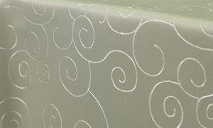Ornamente Tischdecke Oval 130x220 cm HELLGRÜN Lindgrün