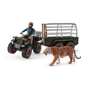 Schleich - Tierfiguren, Quad mit Anhänger und Ranger; 42351