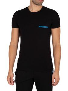 Emporio Armani Herren Lounge Brand Crew T-Shirt, Schwarz XL