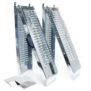 2x Auffahrrampe 180x22.5x4.5cm 400kg verzinkter Stahl Verladerampe Laderampe