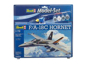 Revell Model Set F/A-18C HORNET - Flugzeug-Modellbausatz; 64894