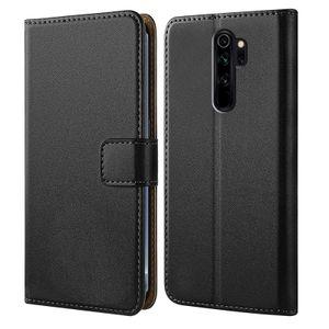 Handytasche für Xiaomi Redmi Note 8 Pro Schutz Hülle mit Aufstellfunktion Handyhülle Klapp Tasche Etui mit Kartenfächer Flip Cover TPU innen Schale