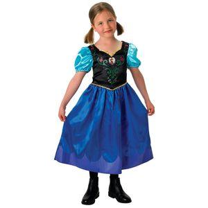 Rubies - Mädchen Anna-Kostüm - klassischer Stil - Anna - M (5-6 Jahre)