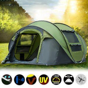 Grün 3-4 Personen Automatisches Pop up Trekkingzelt Zelt kampierendes Wasserdicht UV