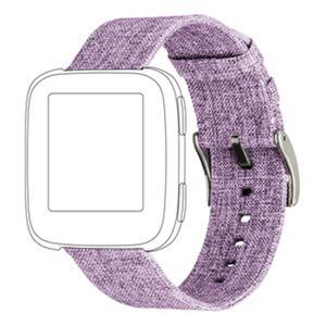 topp Nylon Armband für Fitbit Versa orange, Farbe:Lila