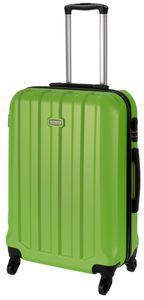 Cahoon – Hartschalen-Koffer Trolley 4-Rollen Reisekoffer / L 65 Liter / Farbe: grün