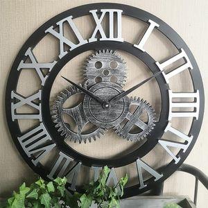 Industrial Gear Wanduhr Dekorative Wanduhr Industrial Style Wanduhr , 40cm Silber