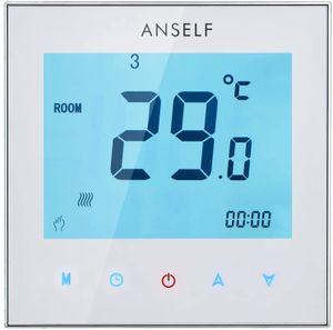 Anself 5A 110-230V Raumthermostat thermostat Fußbodenheizung Programmierbares wöchentliche LCD-Display Touchscreen Wasser Heizung Thermostat Raumtemperaturregler