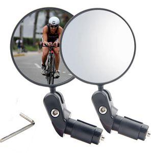 Fahrradspiegel, 2 Stück verstellbares Lenker Fahrradspiegel, sicherer Rückspiegel für 17,4-22 mm Flacher Lenker Drehspiegel Lenkerspiegel für Mountainbike-Fahrräder