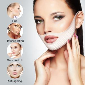 ELAIMEI 4Pcs V Line Masken V Shape Lifting Gesichtsmaske Gesicht Slim Chin Check Neck Lift Peel-Off Maske Konturstraffung Straffende Feuchtigkeitsmaske