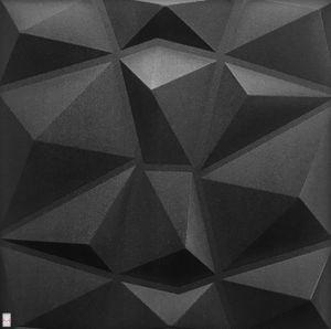 3D Wandpaneele Wandverkleidung Deckenpaneele Platten Paneele Diamant Schwarz Polystyrol XPS (0,25qm)