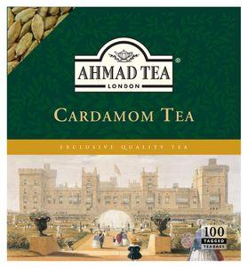 Ahmad Tea- Cardamom Aroma 100 St. Schwarztee-Beuteln á 2 Gramm mit Band
