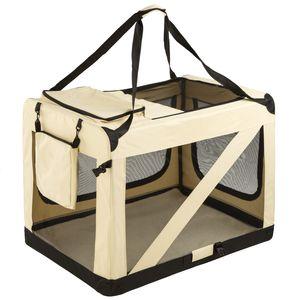 tectake Hundebox faltbar - XXXL / 101 x 68 x 68,5 cm