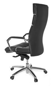 Bürostuhl FERROL Echt-Leder schwarz Schreibtischstuhl |