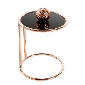 Design Beistelltisch ART DECO 40cm kupfer schwarz Kaffeetisch Nachttisch Wohnzimmertisch Couchtisch Sofatisch