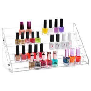 Nagellackständer Acrylständer Nagellack Nagellackregal Lippenstiftständer Aufbewahrung von ca. 70 Nagellackflaschen Nagellackdisplay