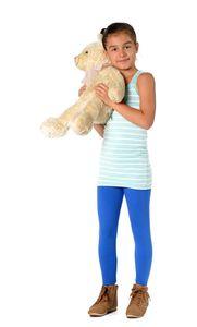 Mädchen Kinder Leggings in 23 Farben Baumwolle, Blau 110