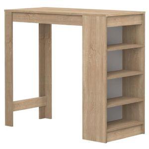 Tischbar 4 bis 6 Personen zeitgenössischer Eichenstil - L 115 x B 50 cm