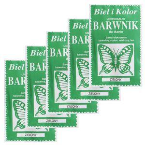 5 x 10g Batikfarbe Textilfarbe Stofffarbe färben, bitte Farbmix wählen, Farbe:grün