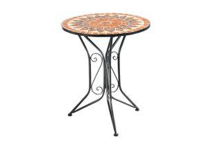Metalltisch Mosaiktisch Gartentisch mit Mosaik aus Metall