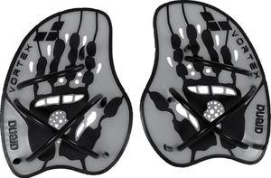 arena Vortex Evolution Hand Paddle silver-black Größe M