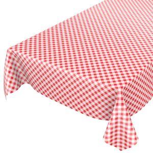Karo Klassik Rot 140x140cm Wachstuch Tischdecke