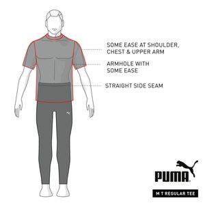 PUMA Essential Herren Ess Logo Tee No.1 Tee / T-Shirt Kurzarm 851740, Größe:L, Farbe:Peacoat White 06
