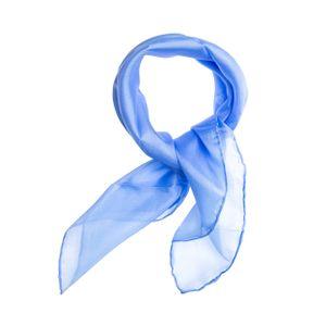 Nickituch Seidentuch hellblau blau Seide 55x55cm