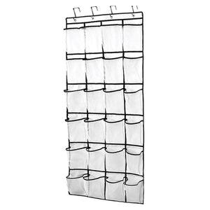 24 Taschen Wandorganizer Hängeorganizer Hängeaufbewahrung Hängeregal Tür Schuhregal Hängende Tasche Aufbewahrungstasche Schrank Organizer - Weiß