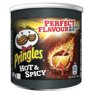 Pringles Hot and Spicy Perfect Flavour Snack würzig und scharf 40g
