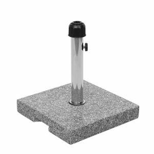 Sonnenschirmständer HWC-F92, Schirmständer Schirmhalter, Granit  23kg eckig grau