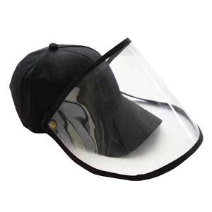 Unisex Anti-Spuck-Hut Außen Abnehmbare Klare Abdeckung Anti-Fog-Baseballkappe