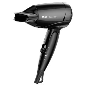 Braun Satin Hair 1 HD 130 Style&Go Haartrockner (Klappbar Reisefön)