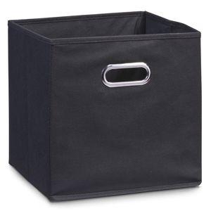Zeller Aufbewahrungsbox, schwarz, Vlies 32x32x32